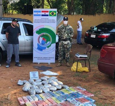 Brasileño recién salido de la cárcel cae con más de 40 kilos de marihuana en el Puente de la Amistad
