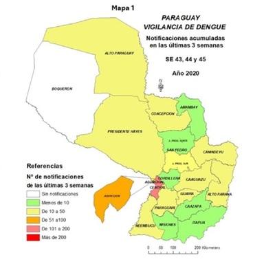 Casos sospechosos de dengue se mantienen en progresivo aumento