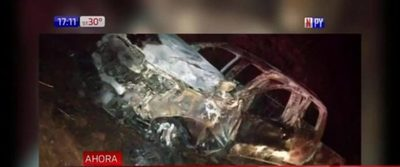 Encuentran vehículo incinerado en Itapúa