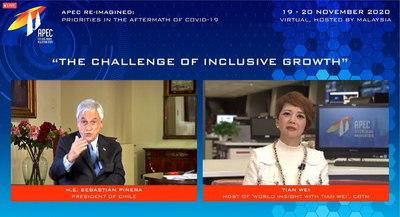 Piñera aboga en APEC por inclusividad y sustentabilidad en sus políticas públicas