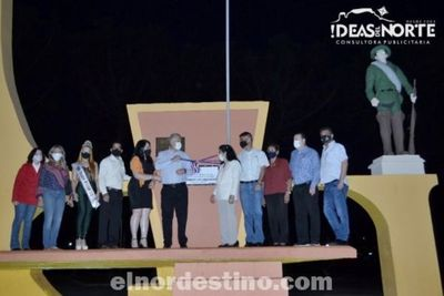 Intendente Acevedo inauguró las refacciones y mejoras en la Plaza Teniente Francisco Manuel Valdéz de Pedro Juan Caballero