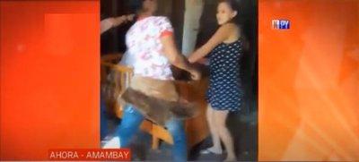 Mujeres se disputan propiedad y terminan desalojando a una embarazada
