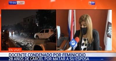 Condenan a 28 años de cárcel a docente por feminicidio de su esposa