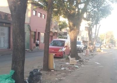 Lamentable situación de céntrica avenida de San Lorenzo
