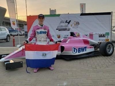 Piloto paraguayo Joshua Duerksen, presente en el Campeonato Italiano de F4