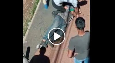 VIDEO – Brutal ataque a hombre en Luque por un soldador