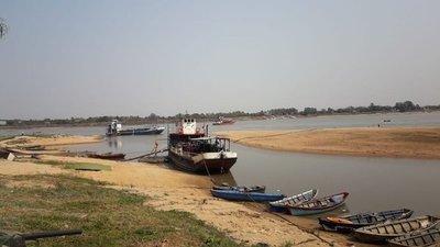 Río Paraguay subió 20 centímetros en dos días y mejora la navegabilidad