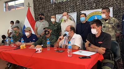 Rueda de prensa del Comando de Operaciones de Defensa Interna (CODI).