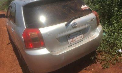 Abandonan en Minga auto robado cerca de Hoahi