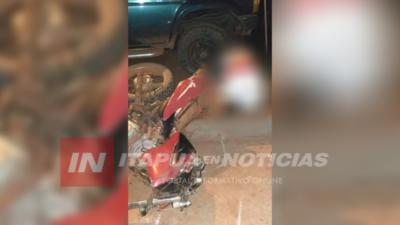 MOTOCICLISTA FALLECIÓ EN ITAPÚA POTY.