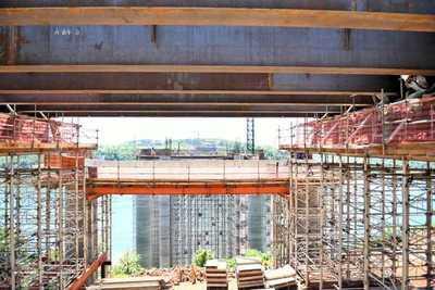 Puente de la Integración: Avanza montaje de vigas trasversales en el lado paraguayo