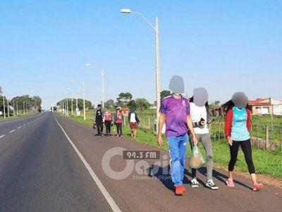 Reportan presencia de peregrinos, pese a advertencias de no ir a Caacupé
