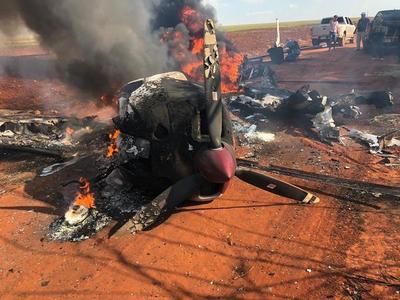 Incineran una aeronave con drogas ante riesgo de captura