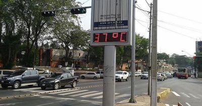Calor de 37 grados para el lunes