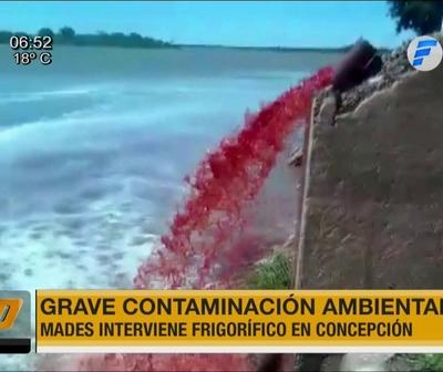 Mades clausura frigorífico por grave contaminación en el río Paraguay