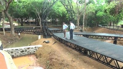 Mejoras del Parque Independencia de Pdte. Franco serán inauguradas antes de fin de año