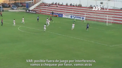 Así el VAR observó la posición de Haedo y validó el gol de Cerro