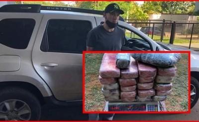 Brasileño procesado tras ser capturado con 50 kg de marihuana