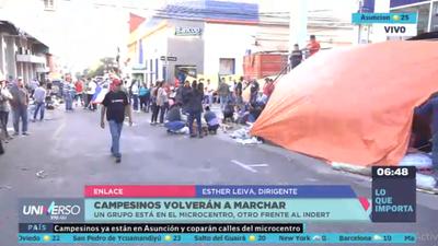 Unos 5 mil campesinos pretenden copar el microcentro de Asunción
