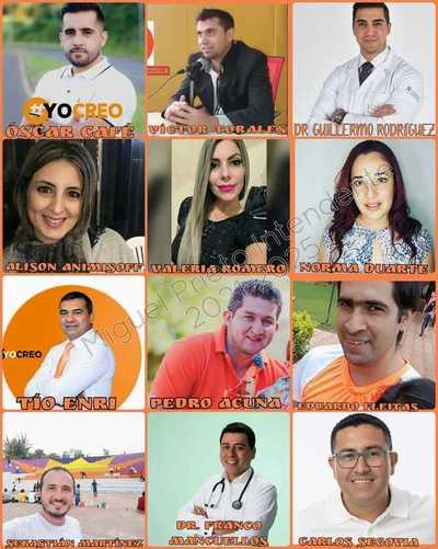 Socializan lista de precandidatos a concejal del equipo de Miguel Prieto