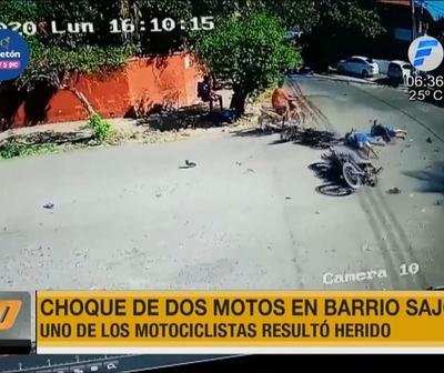 Choque de motos deja un herido en Sajonia