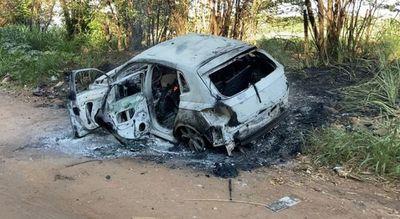 Hallan incinerados dos automóviles en  Pedro Juan