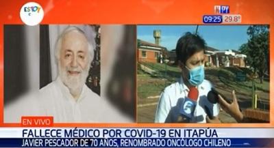 Reconocido oncólogo fallece por Covid-19 en Encarnación
