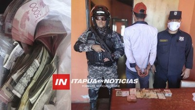 RECUPERAN TOTALIDAD DEL DINERO ROBADO EN ASALTO EN KA'AGUY RORY
