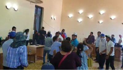 Se registraron incidentes en la sede de la Junta Municipal de Concepción