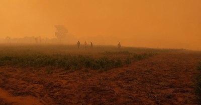 La Nación / Arde Reserva San Rafael: tras publicación, SEN responde con contingente de ayuda