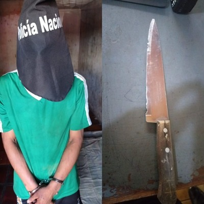 Atrapan a exconvicto armado con Cuchillo en la plaza La Paz de CDE