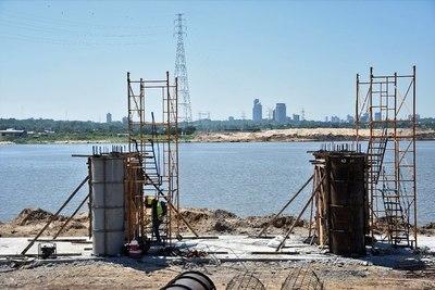 Puente que unirá Asunción con el Chaco avanza en ambas márgenes del Río Paraguay