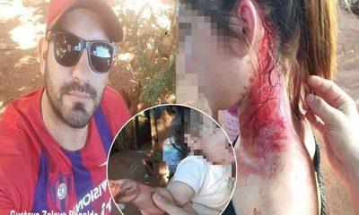 Mujer con su hija de 10 meses en brazos es golpeada brutalmente por su expareja – Diario TNPRESS