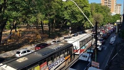 Marcha campesina genera caos en el tránsito asunceno