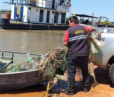 En plena veda, retiran cantidad de espineles suficientes para vaciar de peces el río Paraguay
