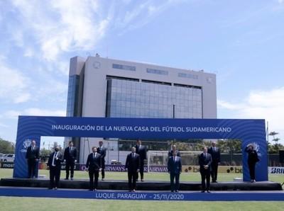 CONMEBOL inauguró mejoras en su sede central y habilitó el centro del VAR