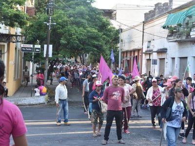 Salud apela al uso de tapabocas y distanciamiento en manifestación campesina