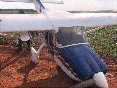 Hallan avioneta abandonada con daños materiales en Tavapy