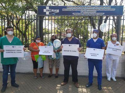 Médicos del Ineram se manifiestan para pedir conciencia ciudadana