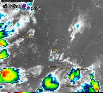 Emiten alerta meteorológica para cinco departamentos