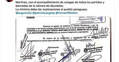 La Nación / Plantean interpelación a Teresa Martínez, ministra de la Niñez