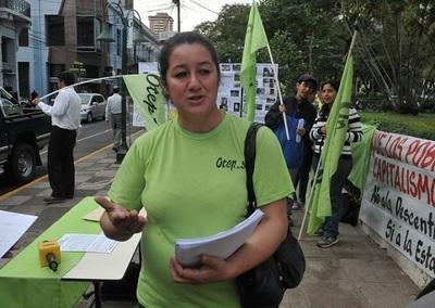 Docentes de la OTEP-SN continúa con la carpa de la resistencia frente al Poder Judicial