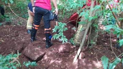 HOY / Hallan cuatro cadáveres enterrados en Pedro Juan