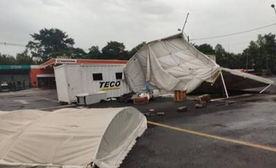 HOY / Puesto de testeo en la Caminera fue nuevamente afectado por el temporal