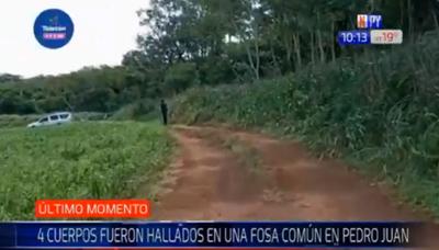 Hallan cuatro cuerpos enterrados en una fosa en Pedro Juan