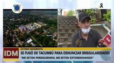 HOY / Interno del penal de Tacumbú se fugó y denuncia graves hechos de corrupción