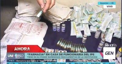 La Nación / Grave denuncia: GEN constata farmacia clandestina en casa de una funcionaria del IPS