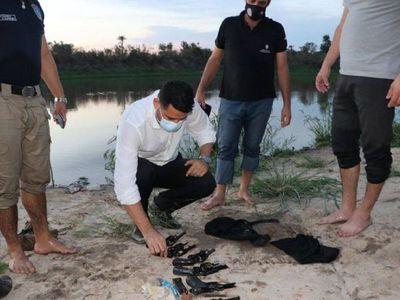 """Caso """"Papo"""" Morales: Encuentran en riacho presunta arma homicida"""