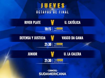 La Copa Sudamericana cierra la primera parte de los octavos de final