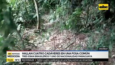 Hallan 4 cadáveres en una fosa común en Amambay
